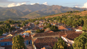 The Escambray Mountains in the central region of Cuba as seen from Trinidad